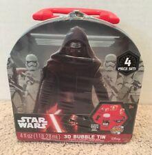 Disney Star Wars Force Awakens 4-Piece Set 3D Miracle Bubbles Tin Case NEW