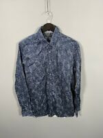 TED BAKER Shirt - Size 4 Large - Navy - Floral - Great Condition - Men'