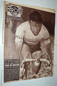 MIROIR SPRINT #621 1957 CYCLISME PARIS-ROUBAIX DE BRUYNE FOOTBALL RUGBY BOXE