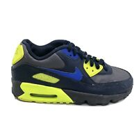 Nike Air Max 90 LTR Shoes Kids Boys Size 5 Youth Black Blue Sneakers 833412-031