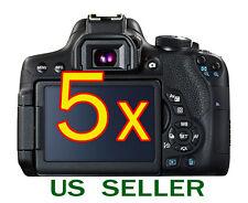 5x Canon EOS 800D Rebel T7i Camera Clear LCD Screen Protector Guard Shield Film