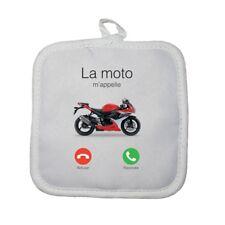 Manique gant de cuisine moto m'appelle