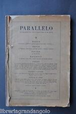 Parallelo Ungaretti Bertolucci Landolfi Lisi Argan Luzi Carrà Campigli 1943