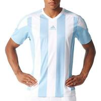 Adidas Mens Adidas Soccer Men's Striped jersey, Clear Blue/White, XXL - NEW