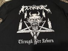 The New Plague Thru Fire Reborn Large T Shirt!Dark Angel Cannibal Corpse Sadus