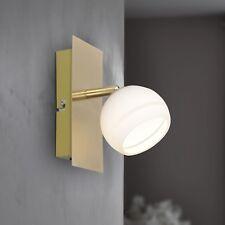 Wofi LED Wandleuchte Cara 1-flg Messing Glas weiß verstellbar Schalter 5 Watt