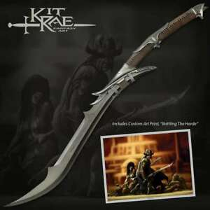 KIT RAE United Cutlery DARK MITHRODIN SWORD LOTR Skyrim Fantasy Blade Axe NEW