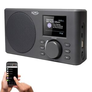 Internetradio WLAN Radio XORO DAB 150 IR mit AKKU Spotify DAB+/FM USB MP3 Wecker