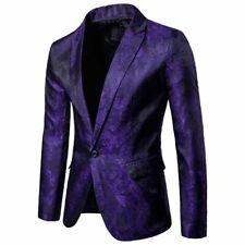 New Men's Suit Coat Regular Serge Blazer Button Business Casual Jacket Summer