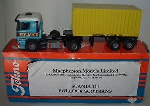 Tekno / Macpherson Scania 144 Pollock Scotrans code 3 Near Mint in Box in 1:50