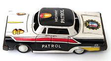 VINTAGE ANTICO HIGHWAY PATROL POLIZIA A FRIZIONE TIN TOY METALLO AUTO Giappone MTH 60's