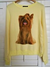 New WILDFOX COUTURE Granny's Dog Yorkie Baggy Beach Jumper Pullover Medium M