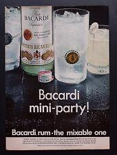1968 Vintage Print Ad | BACARDI RUM | 1960s Liquor Drink Party Daiquiri