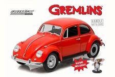 GREMLINS HOLLYWOOD 1967 VOLKSWAGEN BEETLE CAR 1:18  W/ GIZMO FIGURE GREENLIGHT