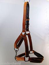 LICOL en cuir naturel, cousu main, taille cob et autres objets chevaux