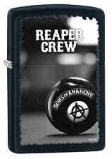 Zippo SOA SAMCRO Sons Of Anarchy Black Matte Reaper Crew Windproof Lighter 28677