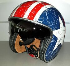 CASCO ORIGINE SPRINT CON VISIERINO PARASOLE REBEL STAR TG XL