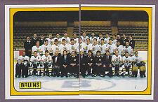 1988-89 Panini NHL Hockey Sticker Boston Bruins Team Photo #215 #216