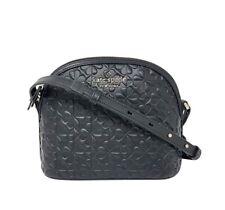 Kate Spade Hollie X-Large Dome Crossbody Black Embossed Leather WKRU6770