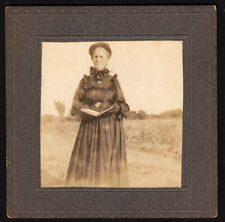 MEAN OLD GOTH WITCH WOMEN JUDGES YOU w BIBLE GLOVES  ~ 1900s VINTAGE PHOTO