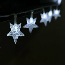 20x LED Glittering Star Fairy Lights Battery Operated Bedroom String Lights