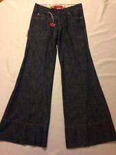 nwt Level 99 wide leg Gaucho crop blue jeans women's size 26 (waist 31 inseam 26