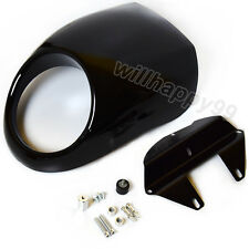 Black Front Cowl Fork Mount Headlight Fairing For Harley Dyna FX XL 883 1200