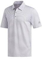 Adidas Golf Men's Ultimate 2.0 2 Stripe Polo Shirt NEW- White / Grey