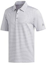 Adidas Golf Men's Ultimate 2.0 2 Stripe Polo Shirt NEW- White / Grey