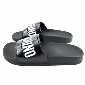 Moschino Couture Pool Slides With Logo Black