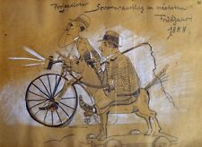 Moritz Röbbecke Ludwig Scheuermann Hochrad Fahrrad Velo Schaukelpferd Peitsche