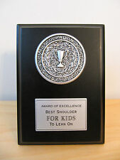 "New Hallmark ""Fatherhood� Best Shoulders for Kids Award Plaque"