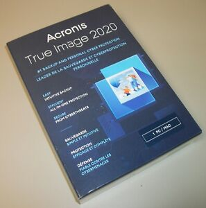 Acronis True Image 2020 For 1 Computer PC Backup Recovery Software New in Box