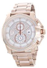 Aqua Master Men's Rose Gold Steel Silver Dial Chronograph Diamond Watch W#352