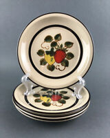 "Vtg 70's Sears Strawberries Salad Plates Stoneware 7 1/2"" Japan Set of 4"