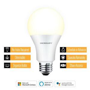Merkury Innovations A19 Smart Light Bulb, 60W Dimmable White LED, 1-Pack ™