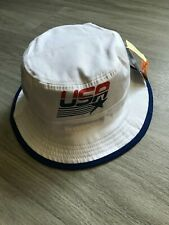 NEW NWT USA Patriotic American Flag Reversible Summer Boonie Bucket Hat Mens O/S