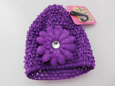 NWT Baby's Very Cute PURPLE Hat with FLOWER