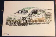 BTCC Simon Belcher Handy Motorsport TOYOTA AVENSIS KARCHER Word Art ~ A4 POSTER