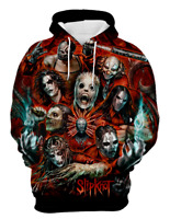 Horror Slipknot 3D print Hoodie Fashion MenWomen Casual Sweatshirt Pullover Tops