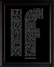 "Rudyard Kipling Poem ""If"" Framed Poster Picture Print Motivational Wall Art"