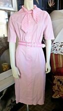 Iconic 1950s Vintage RUDI GERNREICH For Walter Bass Pink Gingham Cotton Dress