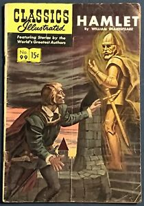 Classics Illustrated #99  Hamlet  William Shakespeare  1st Edition