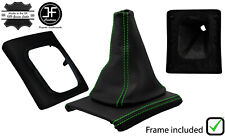 GREEN STITCH LEATHER GEAR BOOT + SURROUND BASE FRAME FOR VW GOLF MK3 JETTA 91-98