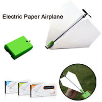 Novelty Electric Paper Plane Airplane Power Up Conversion Kit Educational Toys