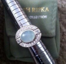 Amazing Judith Ripka Seafoam Chalcedony Sterling & Diamonique 3pc Ring Set Sz 6