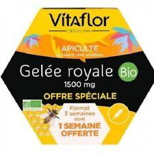 Vitaflor Bio Gelée Royale Gelée Royale Bio - 15ML x 20 Ampoules + 7