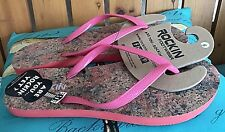 NEW Women's ROCKIN FOOTWEAR Cork Flip Flop Sandals Pink ~ Size 6, 7, 10