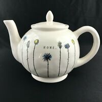 Rae Dunn Floral Teapot Artisan Collection By Magenta HOME HTF NEW DESIGN