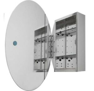 Pegasus 24in. x 36in. Recessed or Surface-Mount Oval Bathroom Medicine Cabinet